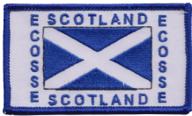 Scotland Saltire Ecosse Rectangular Embroidered Badge (a402)
